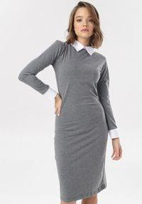 Born2be - Szara Sukienka Ysernell. Kolor: szary
