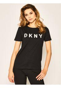 Czarny t-shirt DKNY