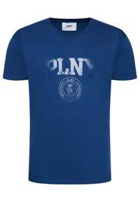 PLNY Textylia T-Shirt Stanford Tee PT-KO-CL-00222 Granatowy Regular Fit. Kolor: niebieski