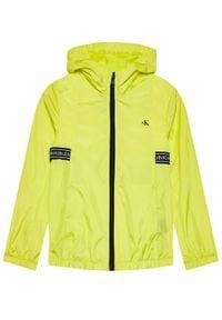 Calvin Klein Jeans Kurtka przejściowa Logo Tape IB0IB00861 Żółty Regular Fit. Kolor: żółty