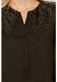 medicine - Medicine - Koszula bawełniana Glitch. Kolor: czarny. Materiał: bawełna. Długość rękawa: długi rękaw. Długość: długie. Wzór: gładki