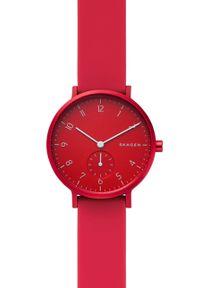 Czerwony zegarek Skagen