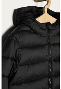 Czarna kurtka OVS na co dzień, z kapturem, casualowa