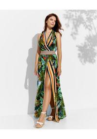 CRISTINAEFFE - Sukienka z kwiatowym printem. Kolor: zielony. Materiał: materiał. Wzór: nadruk, kwiaty. Sezon: lato. Długość: maxi