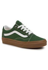 Zielone półbuty casual Vans z cholewką