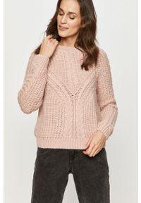 Różowy sweter Answear Lab na co dzień, długi, wakacyjny, z długim rękawem