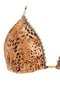 AGUA BENDITA - Top od bikini Lolita Jambo. Kolor: brązowy. Wzór: motyw zwierzęcy, nadruk