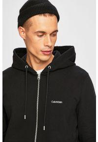 Czarna bluza rozpinana Calvin Klein z kapturem, casualowa, na co dzień