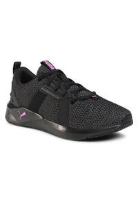 Czarne buty do fitnessu Puma z cholewką, na co dzień