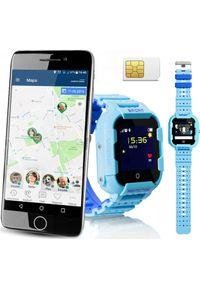 Niebieski zegarek CALMEAN sportowy, smartwatch