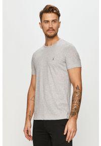 Wielokolorowy t-shirt AllSaints casualowy, z okrągłym kołnierzem, na co dzień