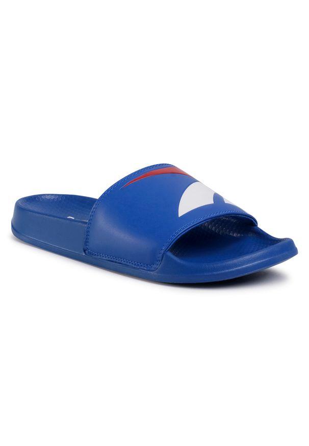 Klapki Reebok - Classic Slide FW5754 Vecblu/Vecred/White. Okazja: na co dzień. Kolor: niebieski. Materiał: skóra ekologiczna, skóra. Szerokość cholewki: normalna. Model: Reebok Classic