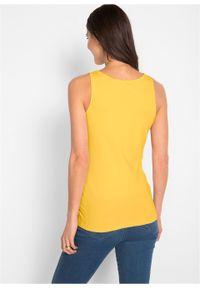 Żółty top bonprix casualowy, na ramiączkach, na co dzień