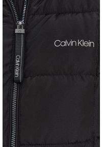 Calvin Klein - Kurtka. Kolor: czarny. Materiał: futro