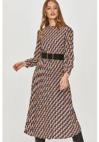 Wielokolorowa sukienka Answear Lab na co dzień, z długim rękawem, wakacyjna