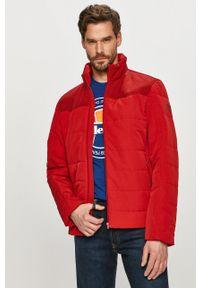 Czerwona kurtka Wrangler bez kaptura, na co dzień, casualowa, gładkie