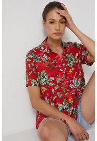 medicine - Medicine - Koszula Commercial. Okazja: na co dzień. Kolor: czerwony. Materiał: tkanina. Długość rękawa: krótki rękaw. Długość: krótkie. Styl: casual