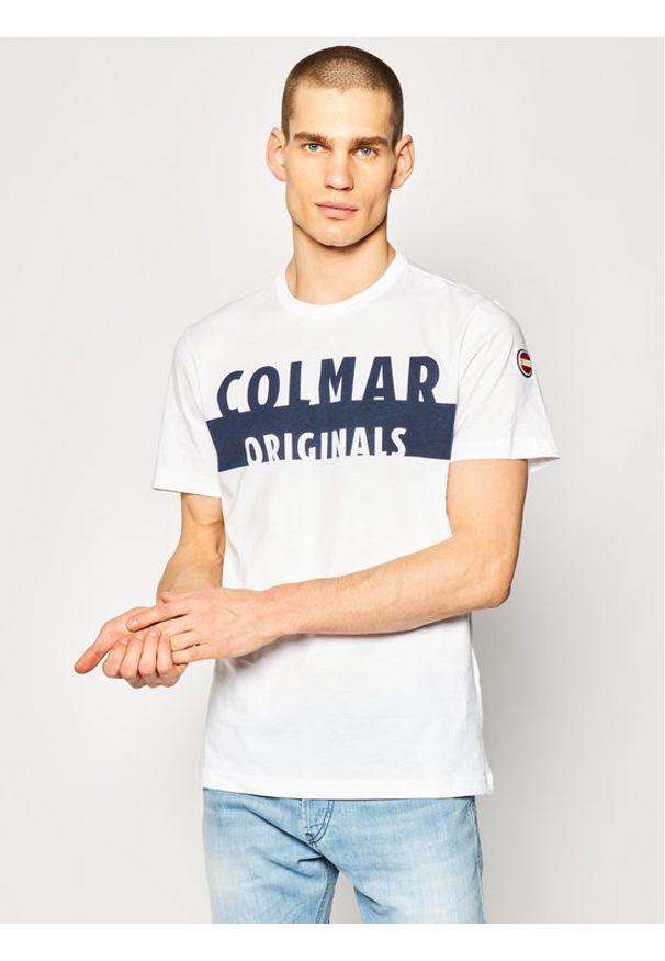 Biały t-shirt Colmar