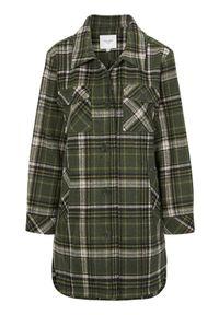 Cellbes Modna kurtka koszulowa z kołnierzem w kratkę female ze wzorem 38/40. Wzór: kratka