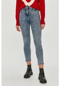 Niebieskie jeansy Patrizia Pepe klasyczne, z podwyższonym stanem