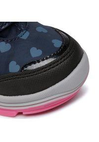 Niebieskie buty zimowe Geox z cholewką