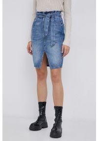 only - Only - Spódnica jeansowa. Okazja: na co dzień. Kolor: niebieski. Materiał: jeans. Styl: casual
