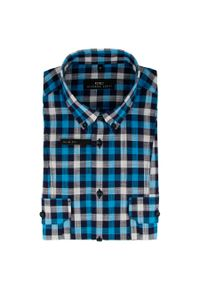 Niebieska koszula Giacomo Conti krótka, na lato