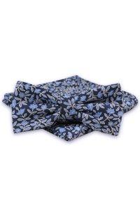 Niebieska muszka Alties w kwiaty, sportowa