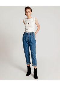 ONETEASPOON - Niebieskie jeansy Rodeo Pioneer 80s. Stan: podwyższony. Kolor: niebieski. Długość: długie
