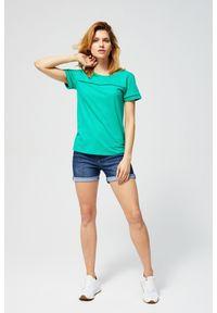 Zielona bluzka MOODO z aplikacjami