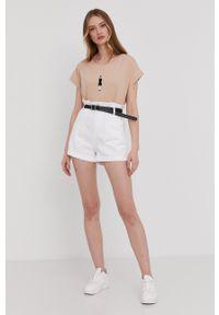 Answear Lab - Szorty jeansowe. Okazja: na co dzień. Kolor: biały. Materiał: jeans. Styl: wakacyjny