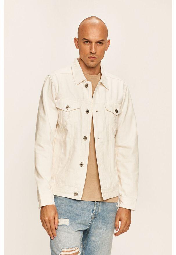 Biała kurtka PRODUKT by Jack & Jones na co dzień, bez kaptura