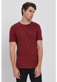 G-Star RAW - G-Star Raw - T-shirt. Kolor: czerwony. Materiał: bawełna. Wzór: aplikacja