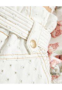 IXIAH - Białe spodnie jeansowe Lunar. Kolor: biały. Wzór: aplikacja