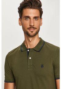 Zielona koszulka polo Selected krótka, na co dzień, casualowa, polo