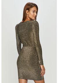 Czarna sukienka Noisy may dopasowana, mini, z długim rękawem #5