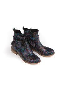 Botki Zapato w kolorowe wzory, na co dzień, eleganckie, z cholewką