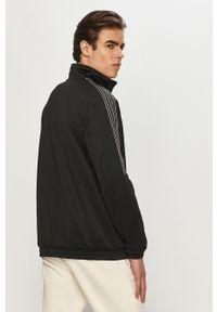 Czarna bluza rozpinana adidas Originals bez kaptura, casualowa, gładkie, na co dzień
