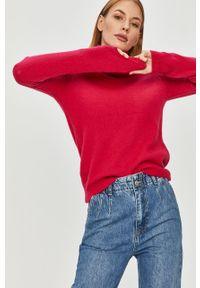 Różowy sweter Answear Lab z długim rękawem, na co dzień, długi, wakacyjny