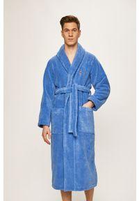 Niebieski szlafrok Polo Ralph Lauren polo, gładki