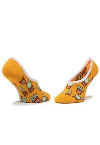 Vans - Zestaw 3 par stopek dziecięcych VANS - Beachin' Canoodles Socks VN0A4DSK4481 r.31.5-36 Multi. Kolor: wielokolorowy, żółty, pomarańczowy, niebieski. Materiał: materiał, nylon, bawełna, elastan
