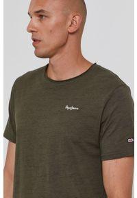Pepe Jeans - T-shirt Paul 4. Kolor: zielony. Materiał: dzianina. Wzór: gładki