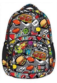 St. Majewski Plecak młodzieżowy Fast Food wielokolorowy (270707). Kolor: wielokolorowy. Styl: młodzieżowy