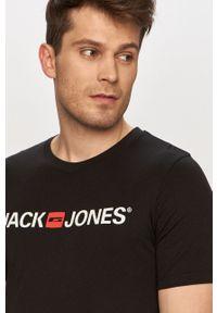 Jack & Jones - T-shirt. Okazja: na co dzień. Kolor: czarny. Wzór: nadruk. Styl: casual