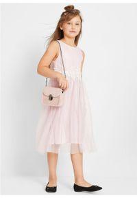 Fioletowa sukienka bonprix bez rękawów