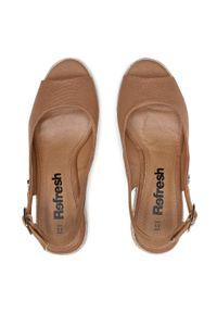 Refresh - Espadryle REFRESH - 72693 Camel. Okazja: na co dzień, na spacer. Kolor: brązowy. Materiał: materiał. Sezon: lato. Styl: casual #4
