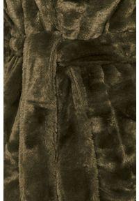 Zielony płaszcz Vila klasyczny, bez kaptura