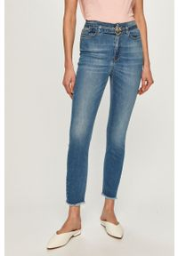 Niebieskie jeansy Pinko klasyczne, z podwyższonym stanem