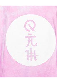 ROBERT KUPISZ - Różowy t-shirt ORIENT RISING SUN. Okazja: na co dzień. Kolor: fioletowy, różowy, wielokolorowy. Materiał: bawełna. Styl: casual, sportowy
