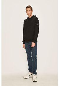 Czarna bluza nierozpinana Calvin Klein Jeans casualowa, na co dzień